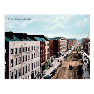 Gammal vykort - Limerick, Irland