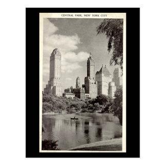 Gammal vykort - New York City, Central Park
