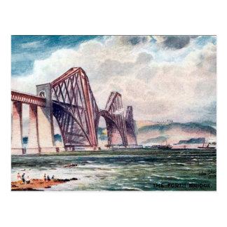 Gammal vykort - överbrygga framåt, Skottland