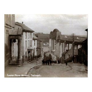 Gammal vykort - Saltash, Cornwall