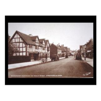 Gammal vykort - Shakespeares födelseort i 1937
