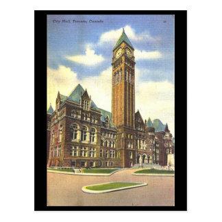 Gammal vykort - stadshus, Toronto, Ontario