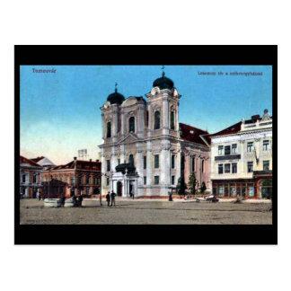 Gammal vykort - Timisoara, rumänien