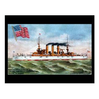 Gammal vykort - USS Georgia