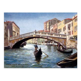 Gammal vykort - Venedig, italien