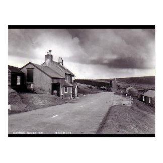 Gammal vykort - Warren husgästgivargård, Dartmoor