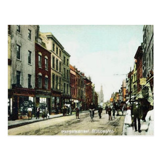 Gammal vykort - Westgate gata, Gloucester