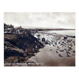 Gammal vykort - Whitley fjärd, Tyne och bära