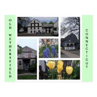 Gammal Wethersfield Connecticut vykort