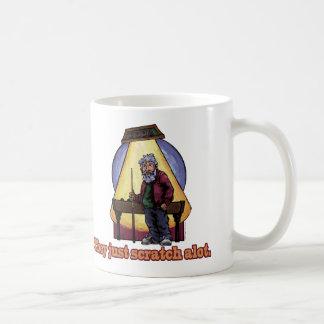 Gammala bassängspelare kaffemugg