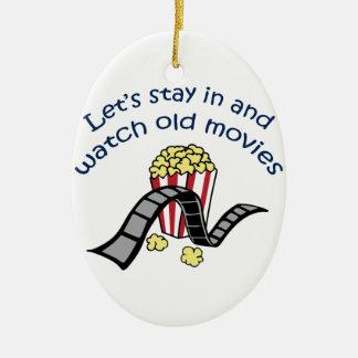 Gammala filmer för klocka julgransprydnad keramik