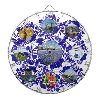 Gammala holländska stilmönsterDelft blått Delftwar Darttavlor