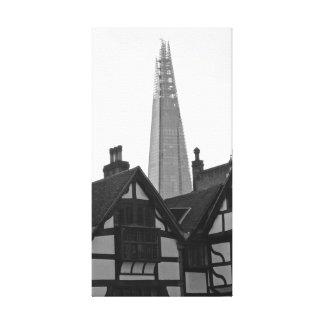 Gammala London, nya London - skärvan Canvastryck
