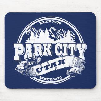 Gammala Park City cirklar blått Musmatta