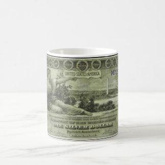 Gammala pengar - 1896 $1 kaffemugg