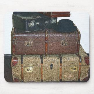 Gammala resväskor Mousepad Musmatta