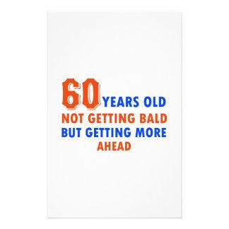 gammala roliga 60 år inte blir skallig brevpapper