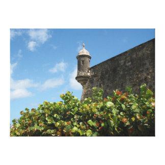 Gammala San Juan, Puerto Rico beskådar Canvastryck