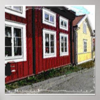 Gammala skandinavhus affisch