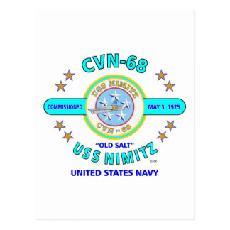 "GAMMALA USS NIMITZ CVN-68 ""SALTAR"" MARINBÄRAREN VYKORT"