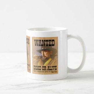 Gammala västern önskade affischer kaffemugg