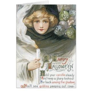 Gammalmodig Halloween elakt trollsaga Hälsningskort