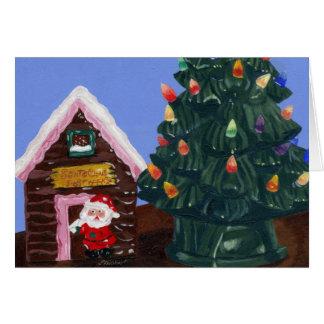 Gammalmodig jul hälsningskort