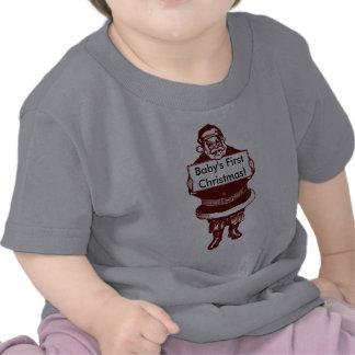 Gammalmodig jultomten/baby första jul tröjor