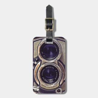 Gammalmodig kamera bagagebricka
