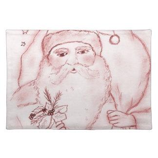 Gammalmodiga Santa i Cranberry Bordstablett