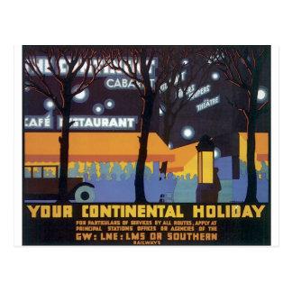 Gammalmodigt resa affischen vykort