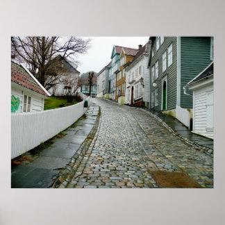 Gammalt Bergen museum (norgen) Poster