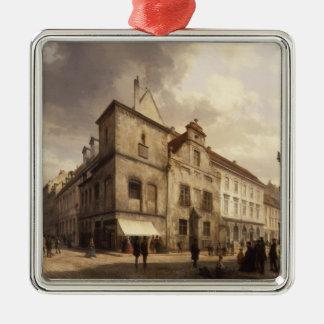 Gammalt Berlin stadshus, 1867 Julgransprydnad Metall