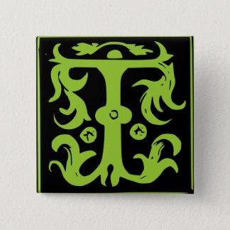 Gammalt Calligraphybrev T kvadrerar knäppas klämme Standard Kanpp Fyrkantig 5.1 Cm