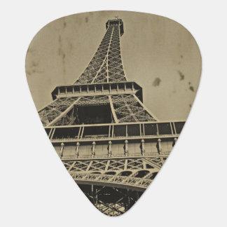 Gammalt Eiffel tornfoto Plektrum