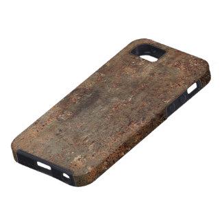 Gammalt Fauxlädertryck Tough iPhone 5 Fodral