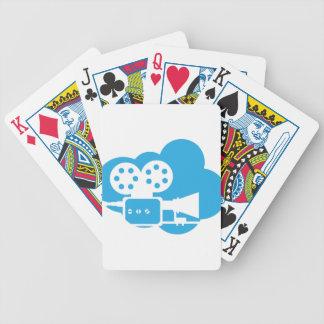 Gammalt filma vektorn för kameramolnsymbolen spelkort