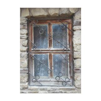 gammalt fönster canvastryck