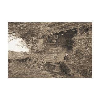 Gammalt hemman 1890 canvastryck