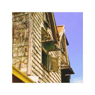 Gammalt hus - Barbados - kanfaskonst Canvastryck