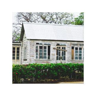 Gammalt hus - Barbados WI - kanfaskonst Canvastryck