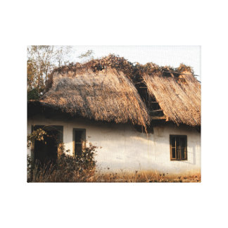 Gammalt hus canvastryck