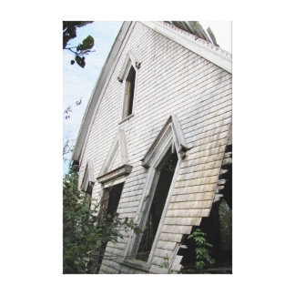 Gammalt hus Hampton N.S. Canvastryck