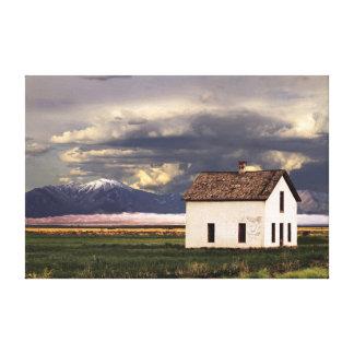 Gammalt hus på de underbara Sanddynerna, Colorado Canvastryck