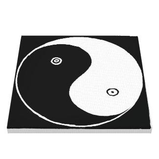 Gammalt kinesiskt Yin och Yang symbol Canvastryck