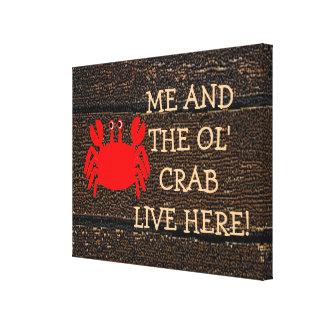Gammalt krabbaUnderteckna-Giftermål Canvastryck