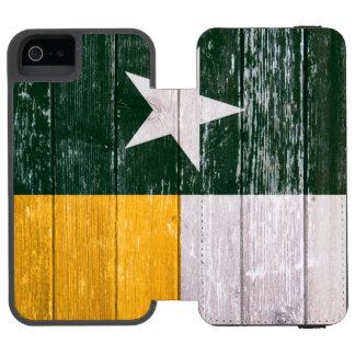 Gammalt målat trä för grön och guld- Texas flagga