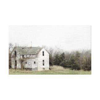 Gammalt Missouri hus Canvastryck