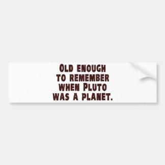 Gammalt nog att minnas när Pluto var ett planet Bildekal