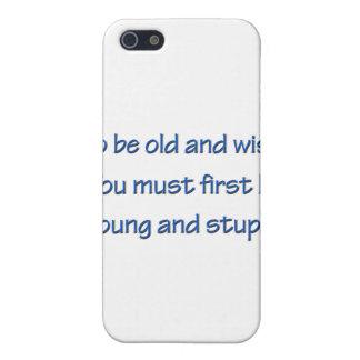 Gammalt och klokt blått iPhone 5 fodral